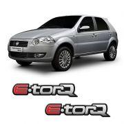 Par de Emblemas Adesivo Fiat E.torq Linha Fiat Resinado