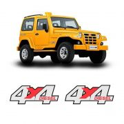 Par de Emblemas Adesivos 4x4 Diesel Troller 2005