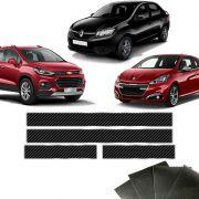 Soleira Da Porta Carbono Chevrolet Peugeot Renault Protetora