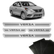 Soleira Da Porta Nissan Versa 2008/2020 Protetora 8 peças