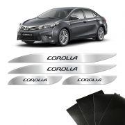 Soleira Da Porta Protetora Corolla 2015/2019 Kit 8 Peças