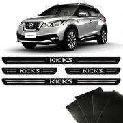 Soleira Da Porta Protetora Nissan Kicks 2017/2020 8 Peças