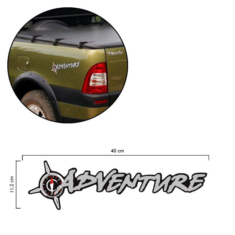 2 Adesivos Adventure Fiat Strada Palio 02/06 Modelo Original