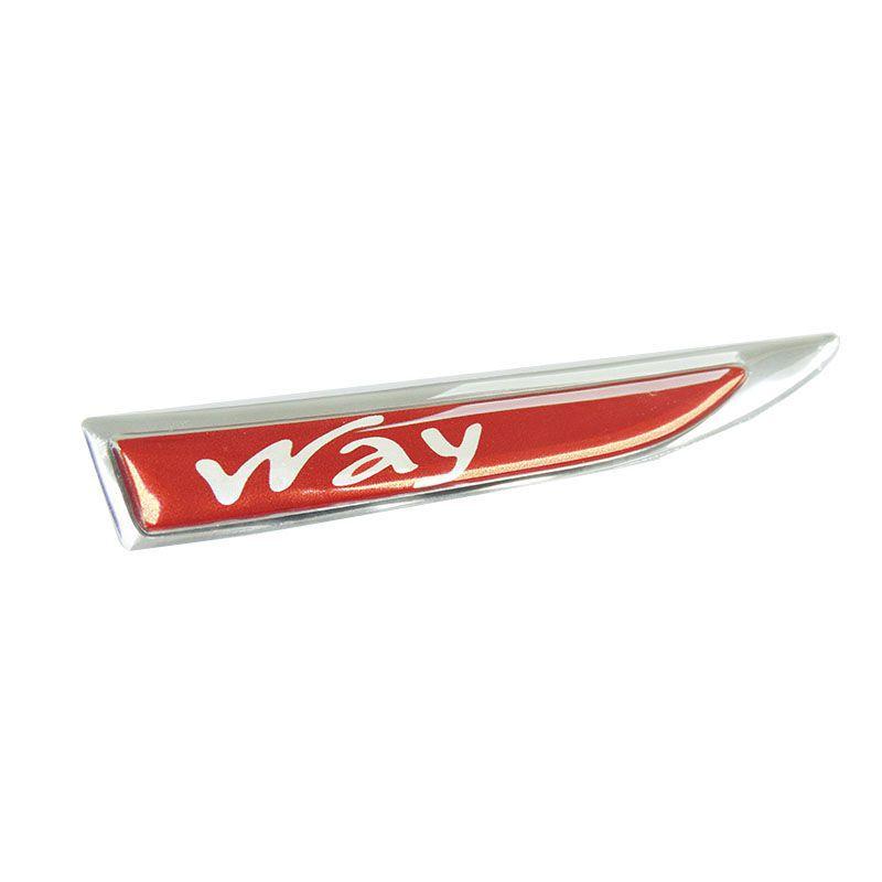 2 Protetores Paralama Fiat Way Vermelho Aplique Resinado