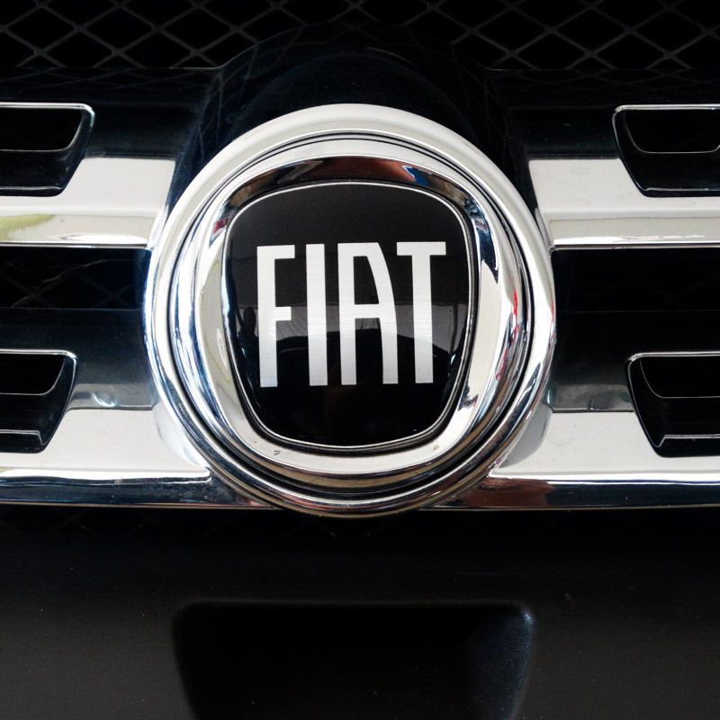 7 Adesivos Emblema Fiat Preto Grand Siena