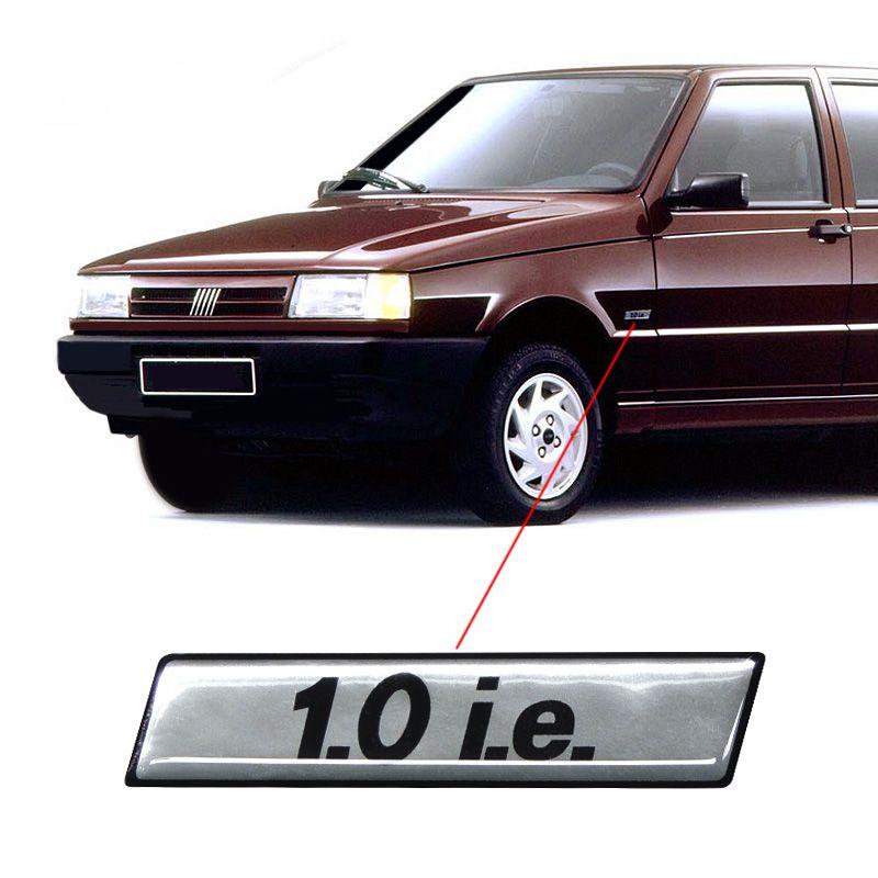 Adesivo 1.0 I.E. Fiat Uno Mille 1995 Diante Cromado Resinado