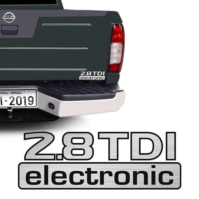 Adesivo 2.8 Tdi Electronic Nissan Frontier Emblema Traseiro