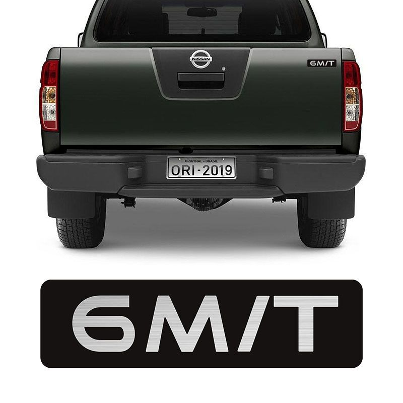 Adesivo 6 M/T Nissan Frontier 08/15 Emblema Tampa Traseira