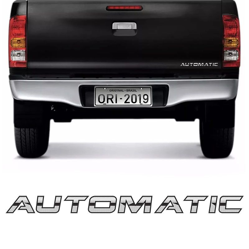 Adesivo Automatic Hilux Srv Emblema Cromado Tampa Traseira