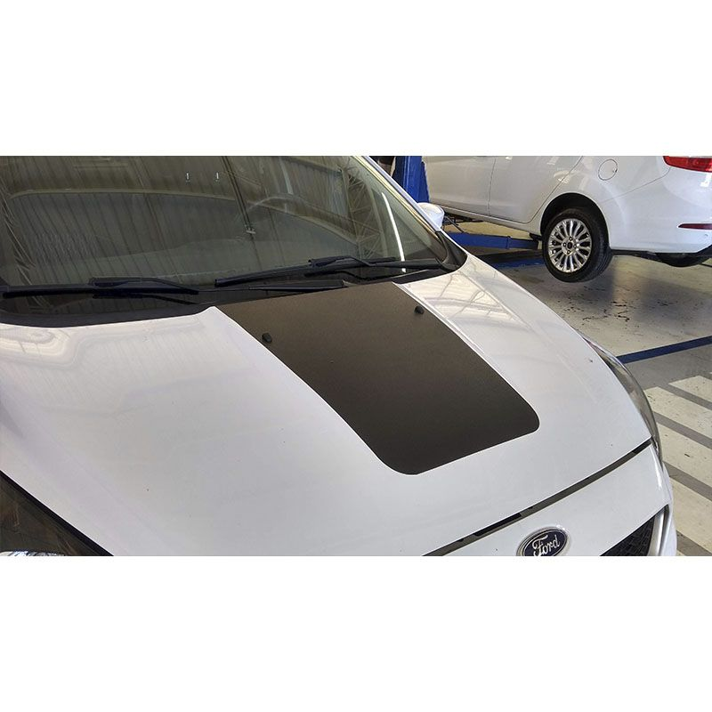 Adesivo Capô Ford Ka Novo 2015/2019 Acessório Preto Fosco