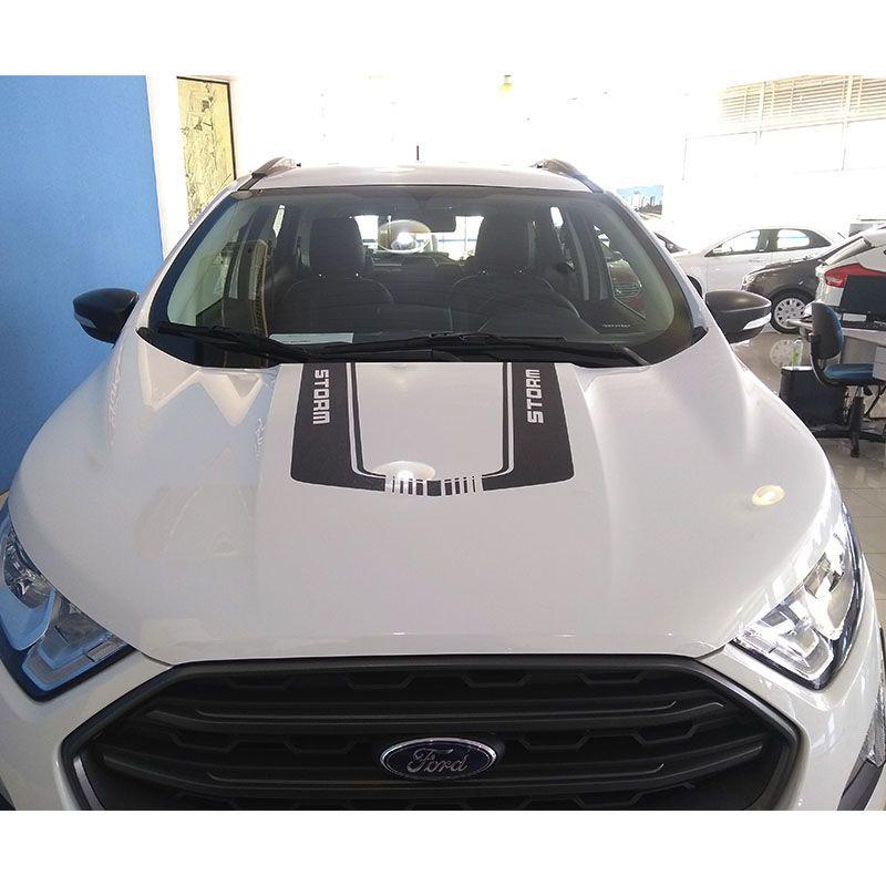 Adesivo Do Capô Ecosport Storm 2018/20 Acessório Preto Fosco
