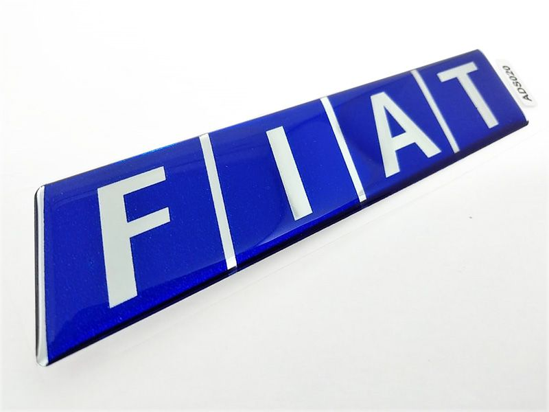 Adesivo Emblema Fiat Resinado Uno, Tipo, Tempra, Elba