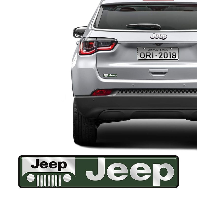 Adesivo Emblema Jeep, Cherokee, Renegade, Compass Resinado