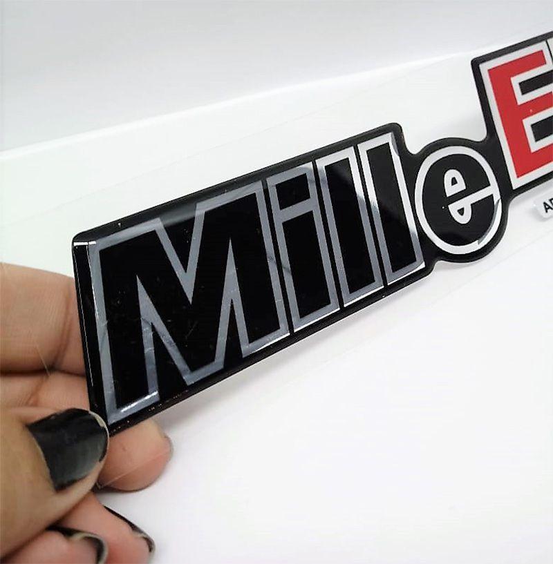 Adesivo Emblema Mille EP Uno Mille EP Cromado Resinado