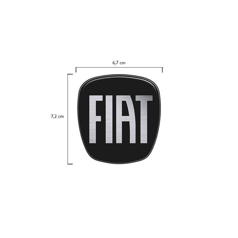 Adesivo Grade Dianteira Fiat Toro 17/19 Emblema Black Piano