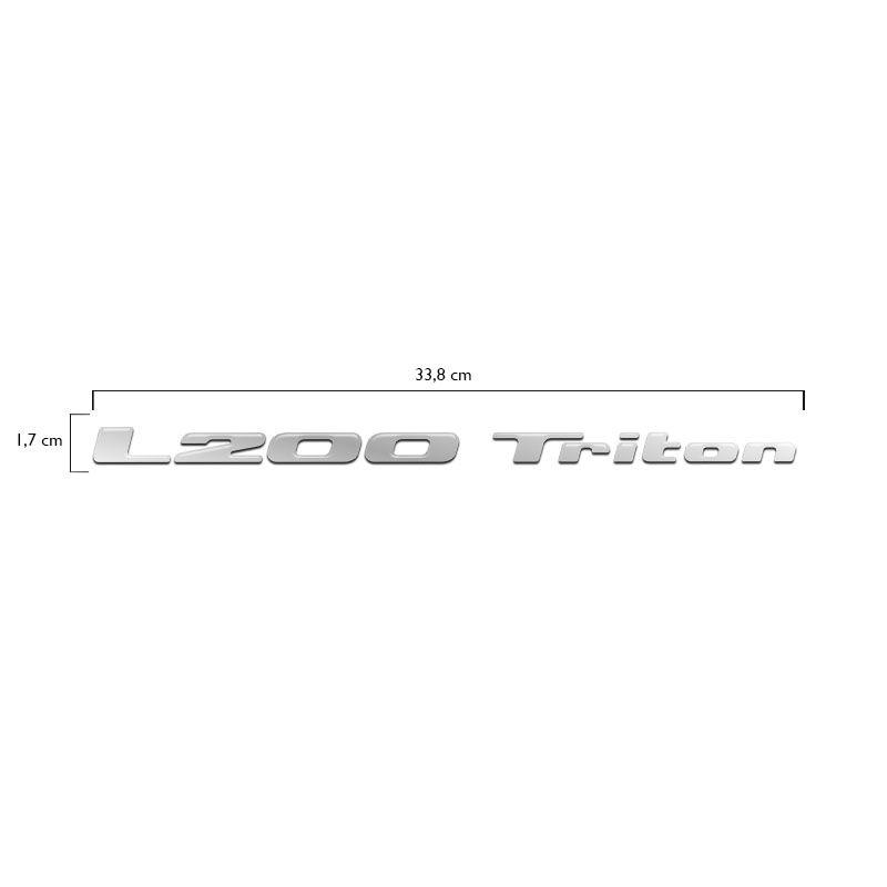 Adesivo L200 Triton 12 13 14 15 16 Resinado Cromado