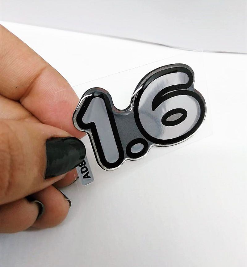 Adesivo Linha Ford Emblema 1.6 Cromado Resinado