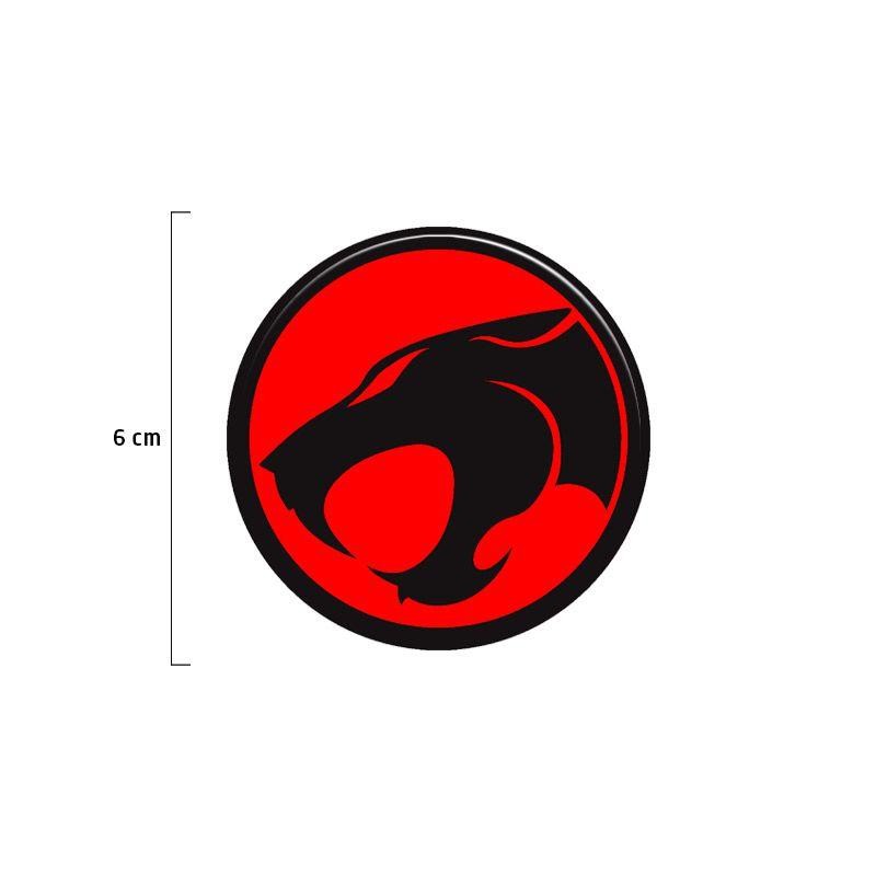 Adesivo Pantera Vermelho Refletivo Resinado Decorativo