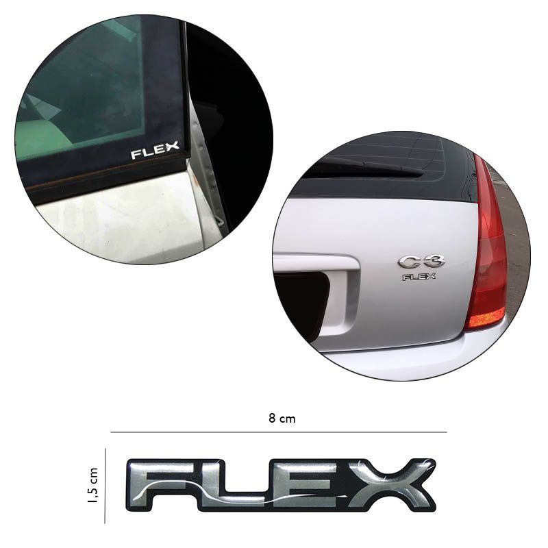 Adesivo Resinado Cromado Flex Citroën C3 C4 C5 Picasso Xsara