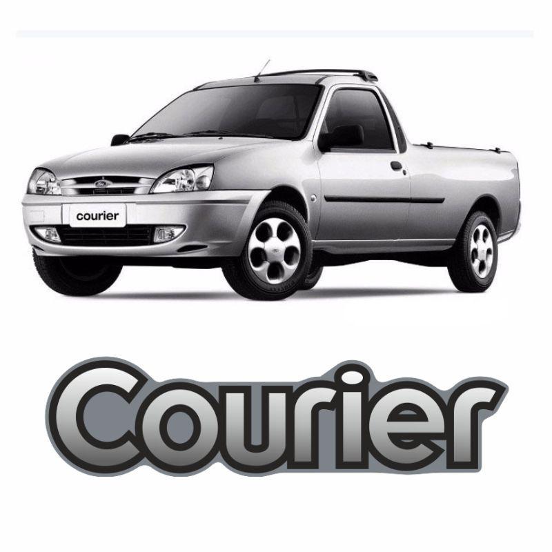 Adesivo Resinado Courier Ford Emblema Cromado