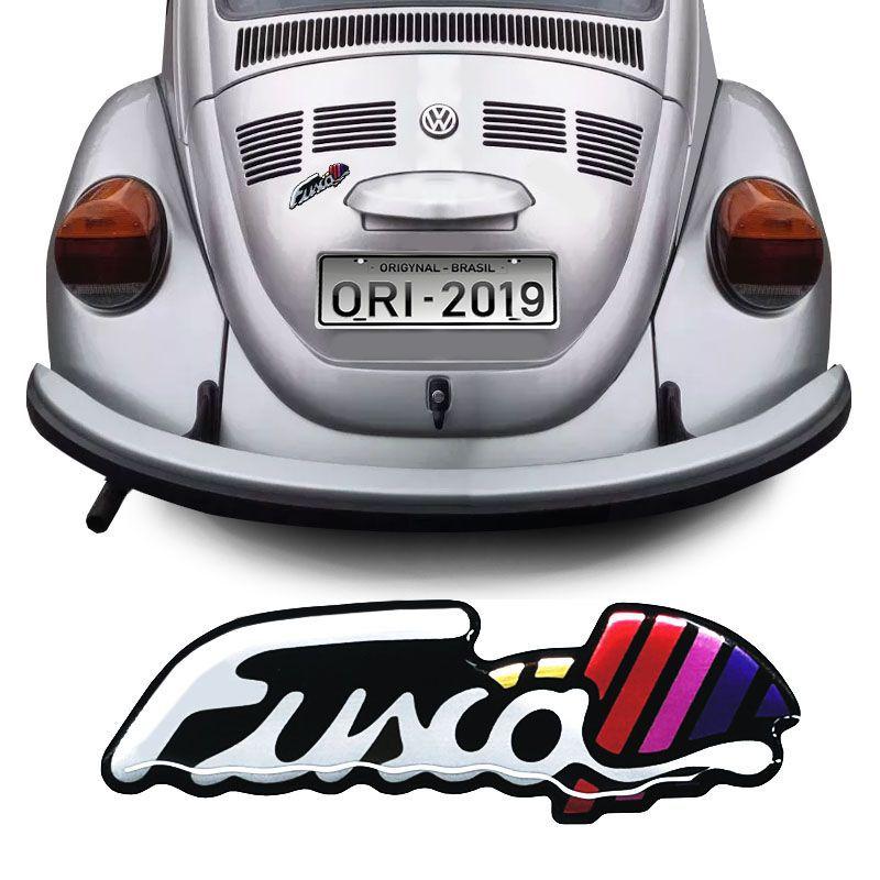 Adesivo Fusca Itamar Emblema Traseiro Resinado Volkswagen
