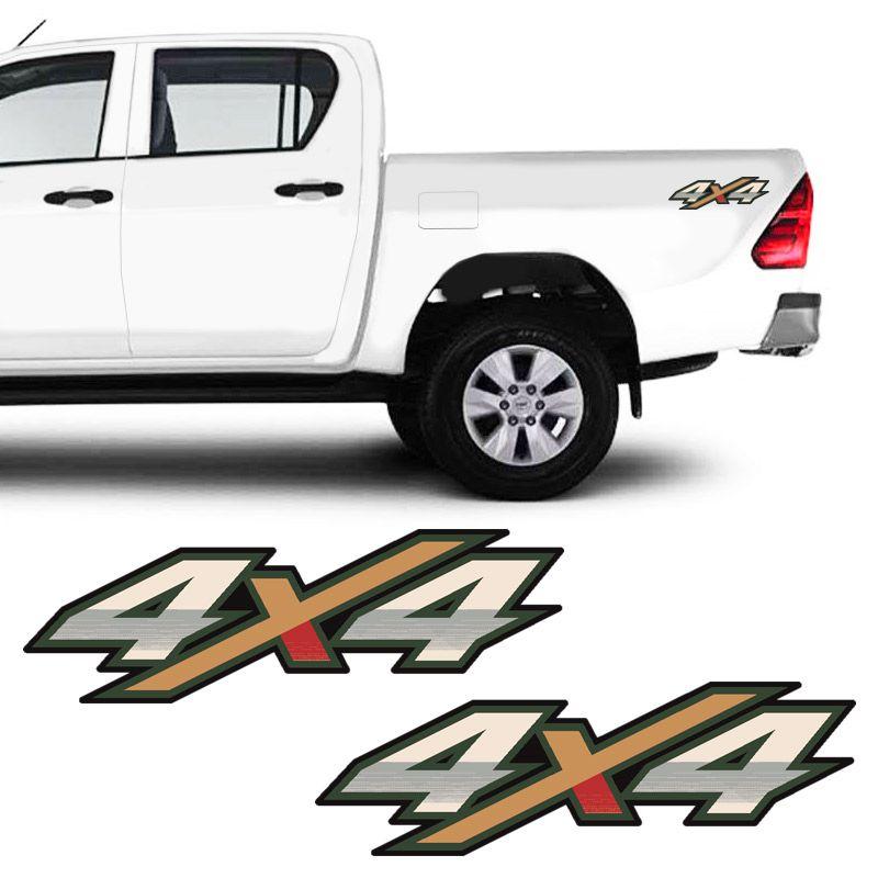 Adesivos 4x4 Hilux Flex 2016 17 18 Emblema Modelo Original