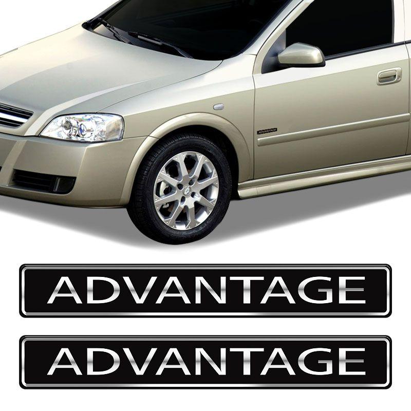Adesivos Advantage Chevrolet Astra Vectra Emblema Resinado