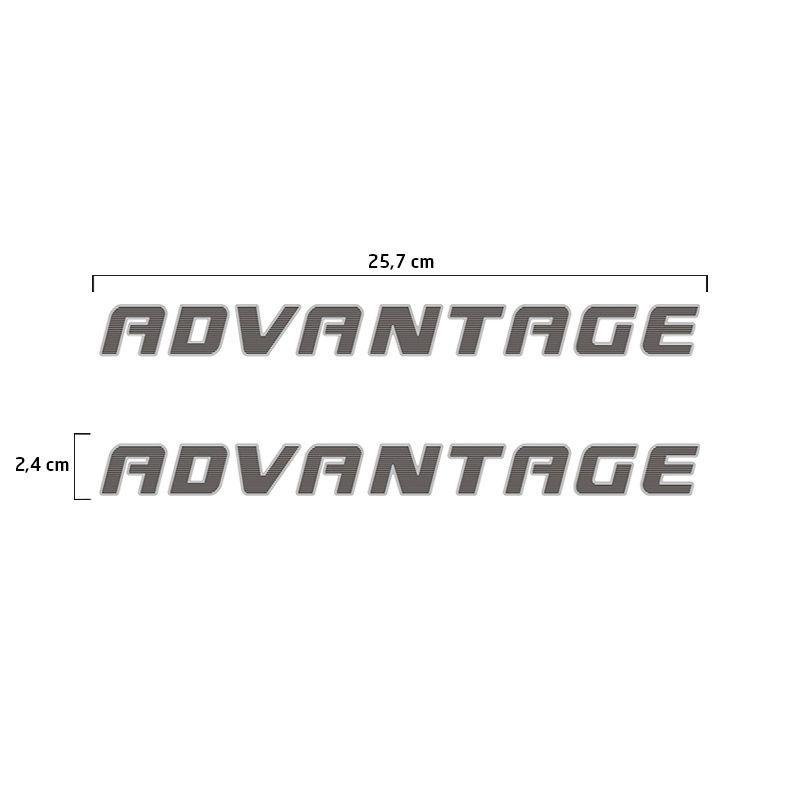 Adesivos Advantage S10 2009/2011 Emblema Da Porta Lateral