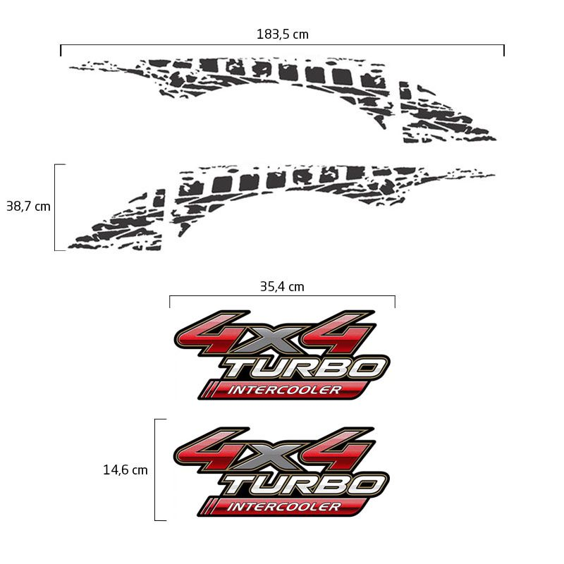 Adesivos Hilux 2009/2012 4x4 Turbo Intercooler + Faixa Grafite