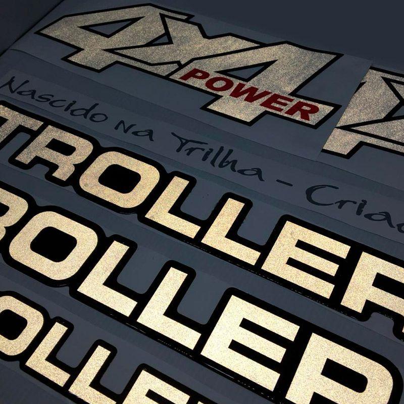 Adesivos Troller 2001/04 4x4 Power Refletivo Resinado Prata