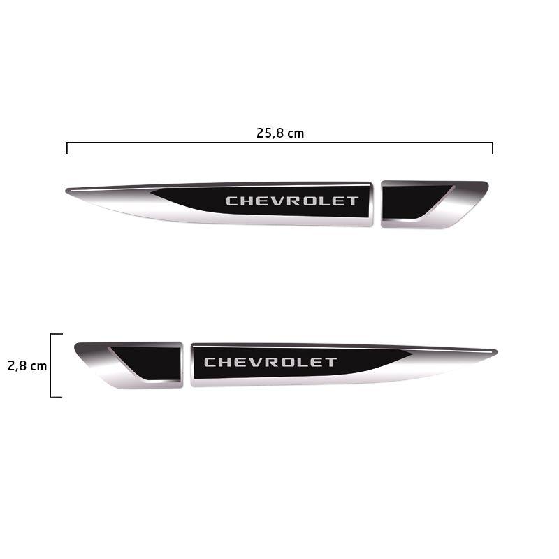 Aplique Lateral Chevrolet Onix Prisma Cruze Emblema Cromado