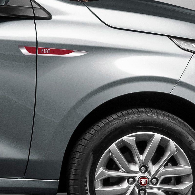 Aplique Lateral Fiat Argo Mobi Punto Palio Emblema Cromado