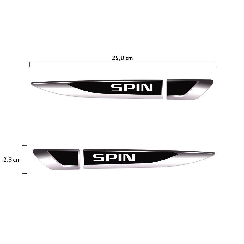 Aplique Lateral Spin Decorativo Emblema Resinado Chevrolet
