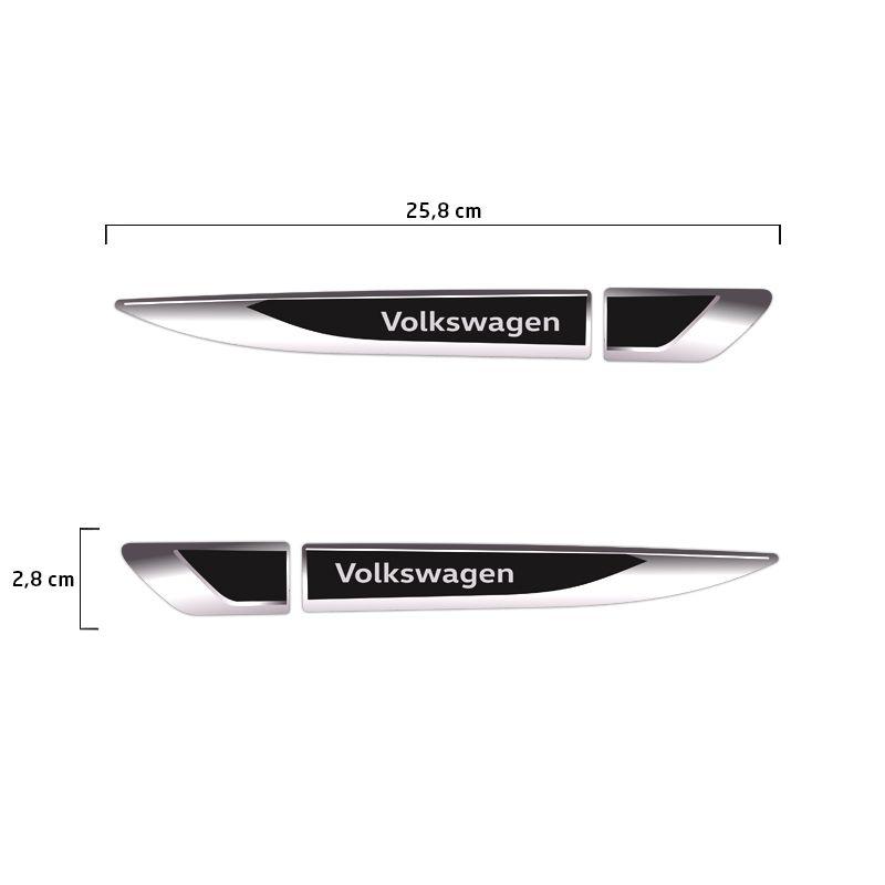 Aplique Lateral Volkswagen Gol Polo Fox Up! Emblema Cromado