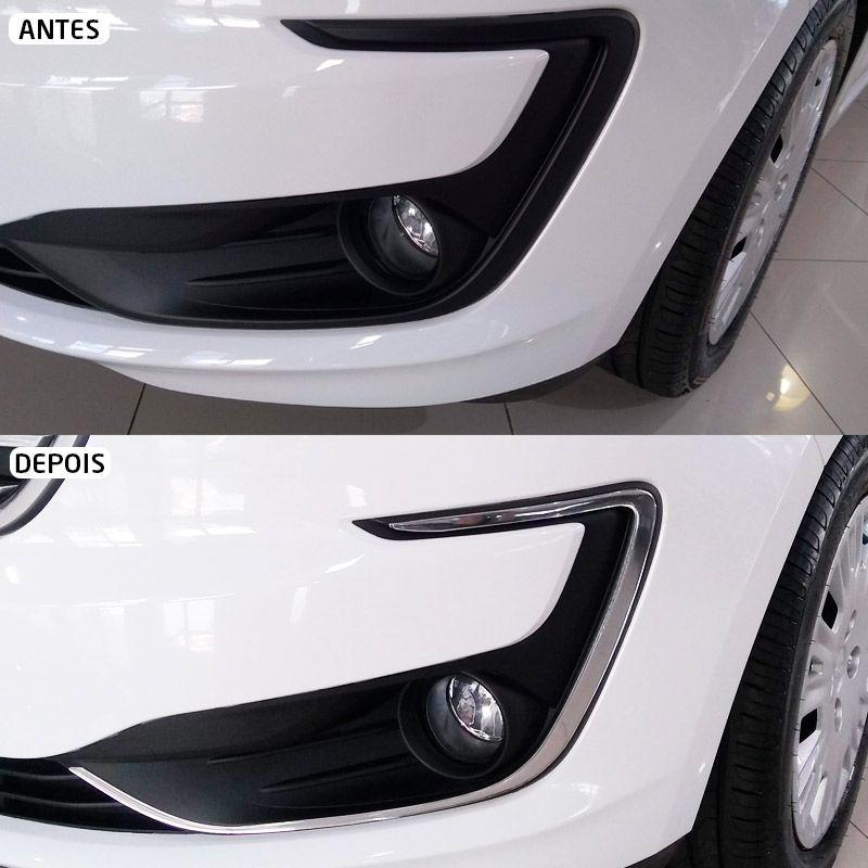 Aplique Para-choque Ford Ka 2019 Adesivo + Soleira Protetora