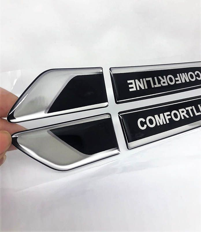 Emblema Resinado Aplique Lateral Comfortline Reto Par