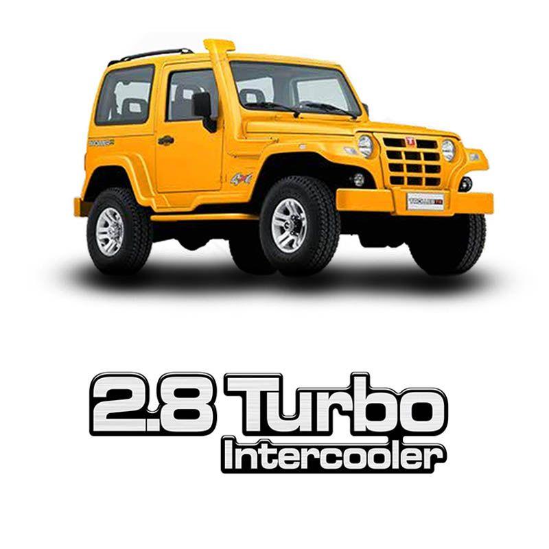 Emblema Adesivo Troller 2005 Resinado 2.8 Turbo Intercooler