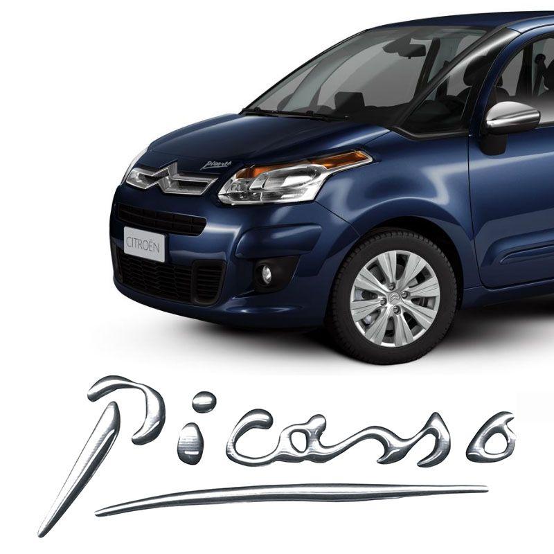 Emblema Citroën Xsara Picasso Adesivo Cromado Resinado