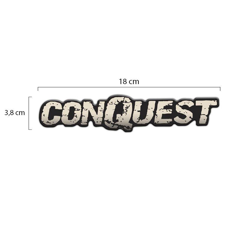 Par de Emblemas Conquest Montana Adesivo Resinado