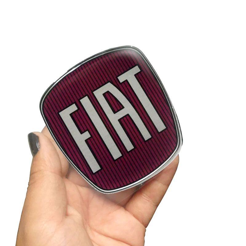 Emblema Da Grade Dianteira Fiat Strada Adesivo Resinado