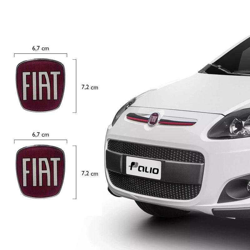 Emblema Dianteiro E Traseiro Fiat Palio Sporting Resinado
