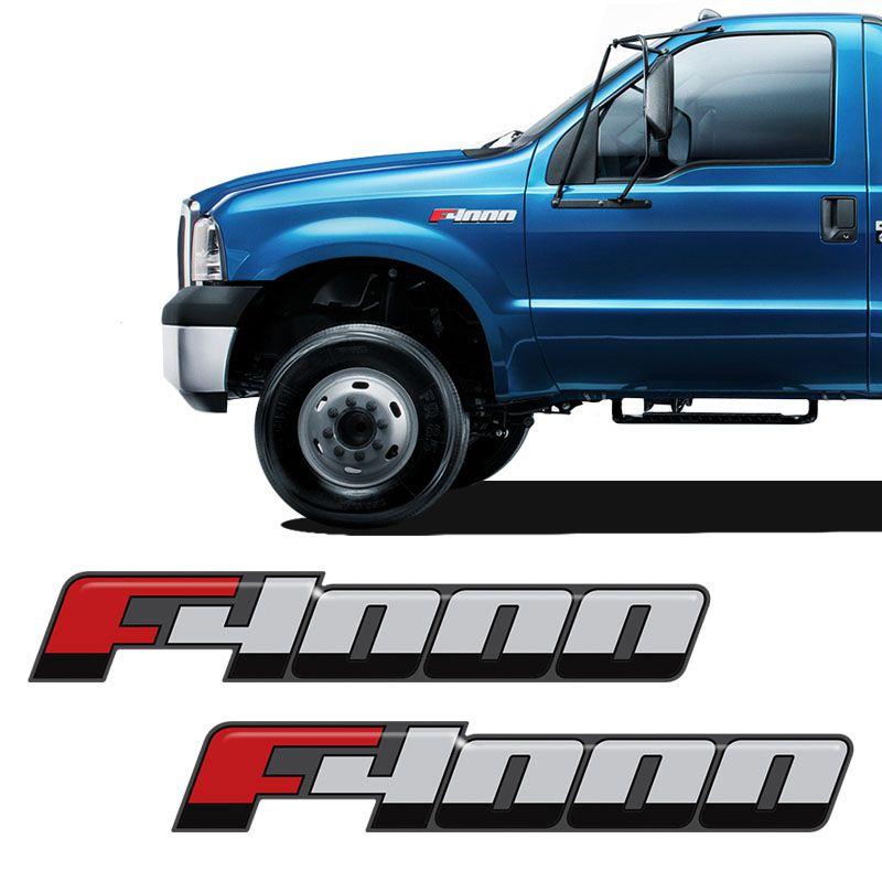 Emblema F-4000 2016/ Adesivo Lateral Resinado Ford - Par