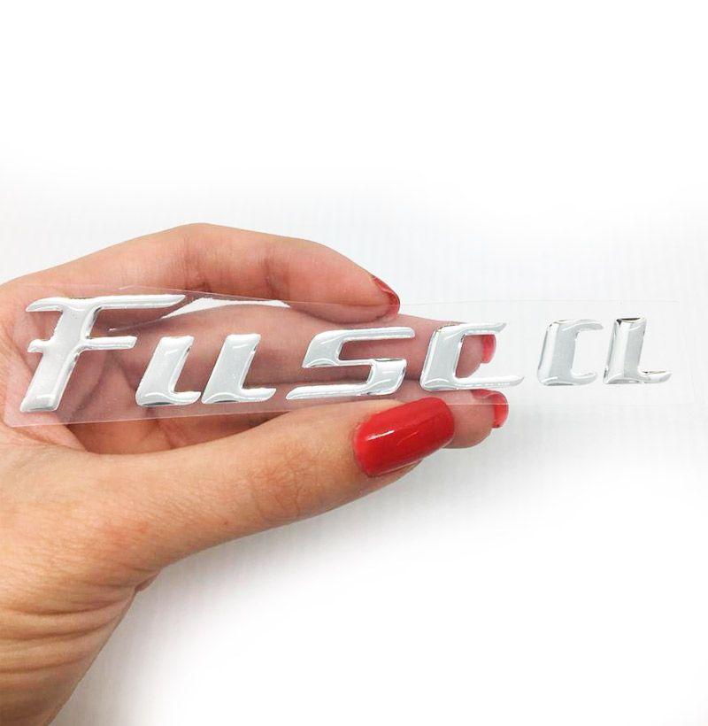 Emblema Fusca Tsi Adesivo Traseiro Cromado Modelo Original