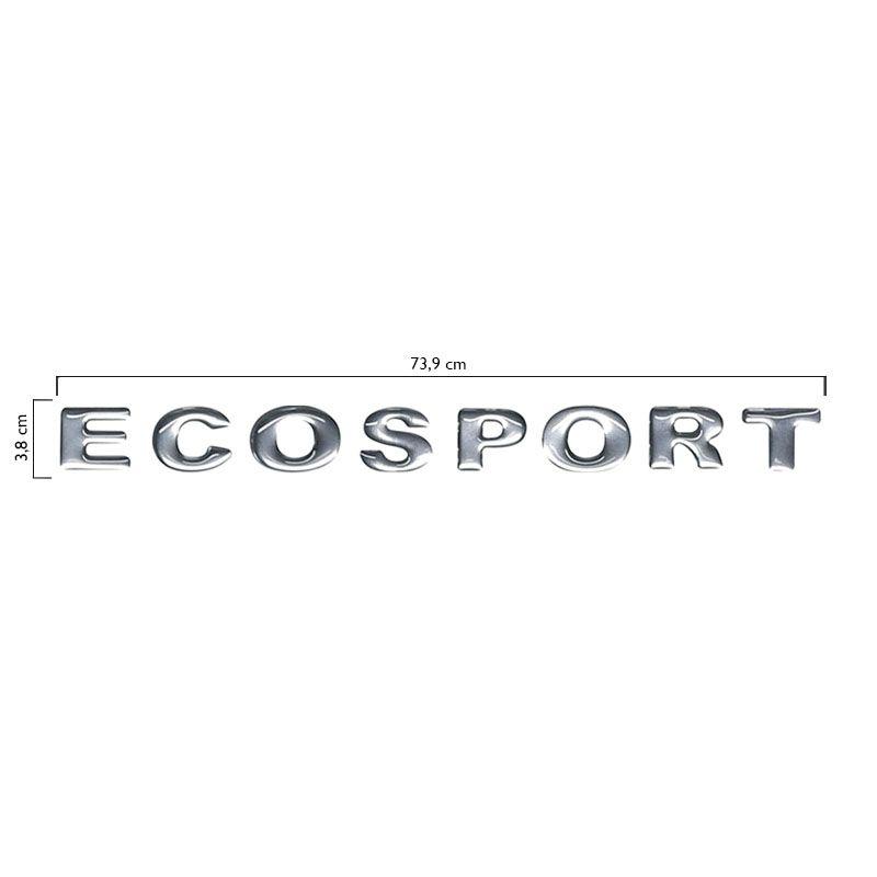 Emblema Letreiro Capô Ecosport 2003 A 2010 Cromado Resinado