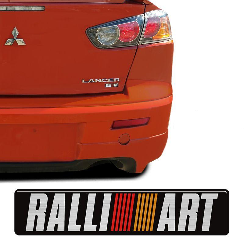 Emblema Mitsubishi Ralliart Triton, Pajero, Lancer Resinado