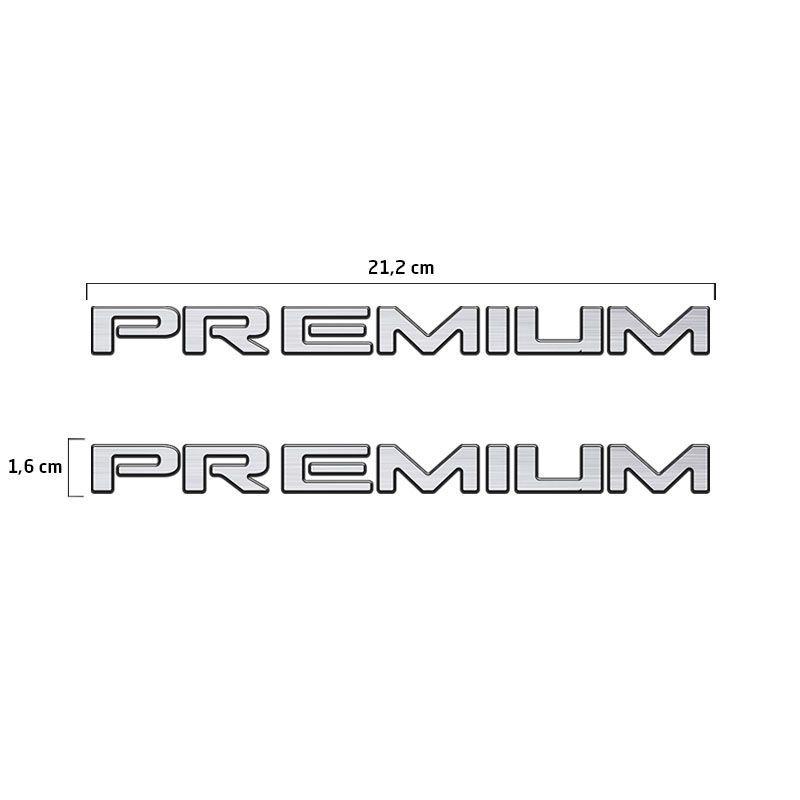 Par De Emblemas Premium Corsa/Celta 2009 Adesivo Resinado
