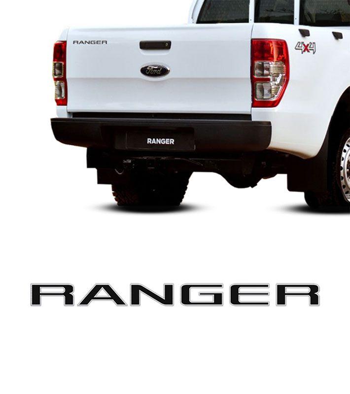Emblema Ranger 2013/2016 Tampa Traseira Adesivo Preto