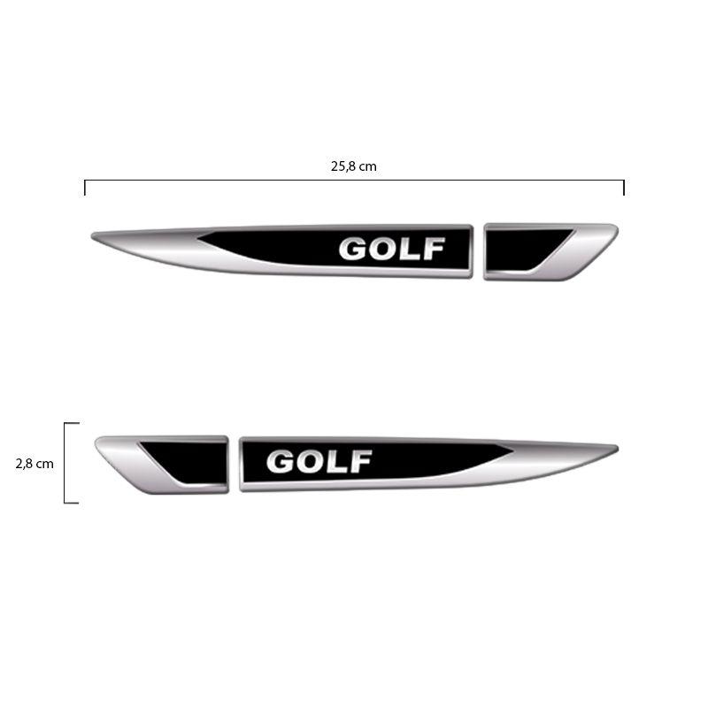 Emblema Resinado Aplique Lateral Golf Par Decorativo