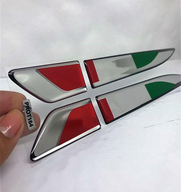 Emblema Resinado Aplique Lateral Itália Universal Par