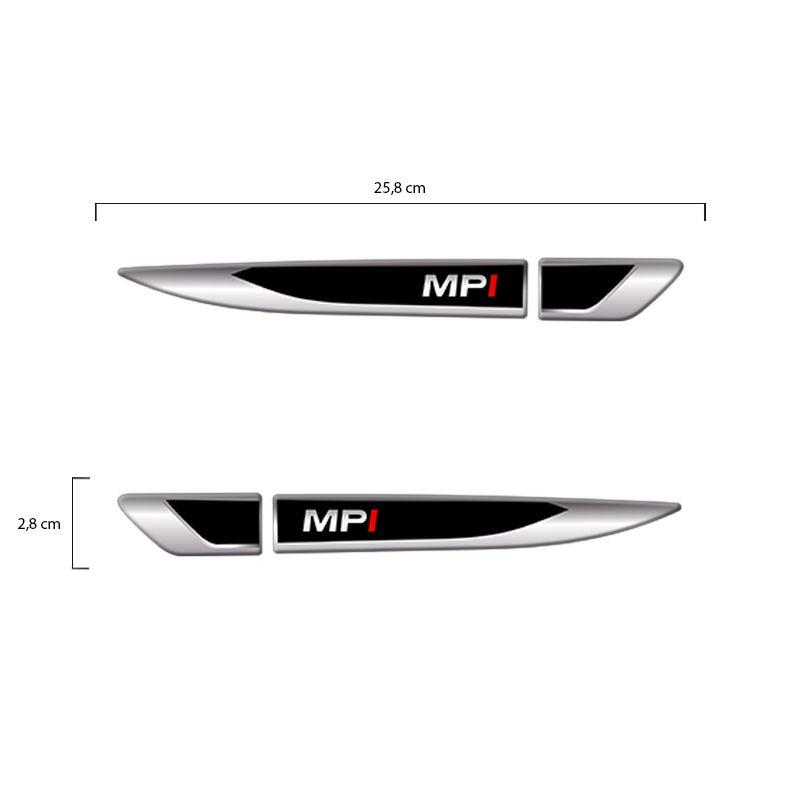 Emblema Resinado Aplique Lateral MPI Reto Par Decorativo